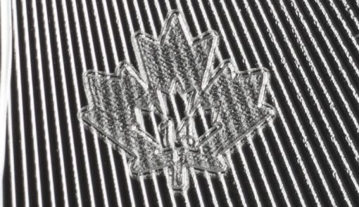Silver Maple Leaf Bullion Coin - Laser Engraved Maple Leaf for 2014