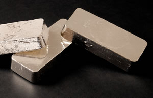 Silver bars, three side-by-side