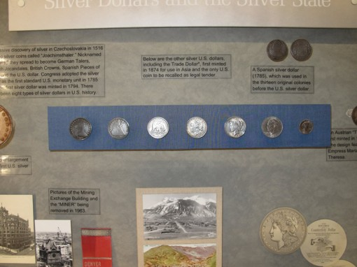 Silver dollar display