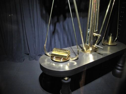 Three gold bars at Denver Mint