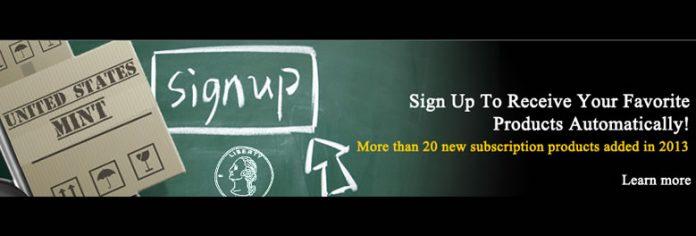US Mint Subscription Service Promotion