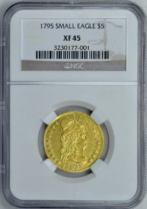 1795 Capped Bust Right Gold Half Eagle Small Eagle NGC XF-45