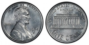 1974 aluminum Lincoln cent struck at the Denver Mint