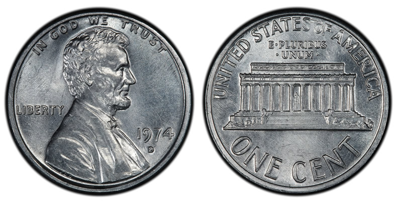 1974 Aluminum Lincoln Cent from Denver Mint Authenticated | Coin News