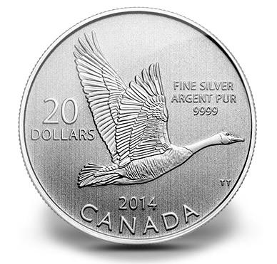 2014 $20 Canada Goose Silver Coin