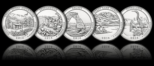 2014 America the Beautiful Quarters Images