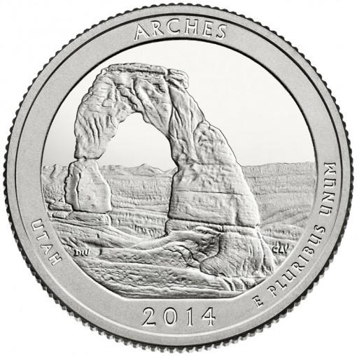 2014 Arches National Park Quarter - Proof