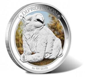 2014 Australian Megafauna - Diprotodon 1 oz Silver Proof Coin