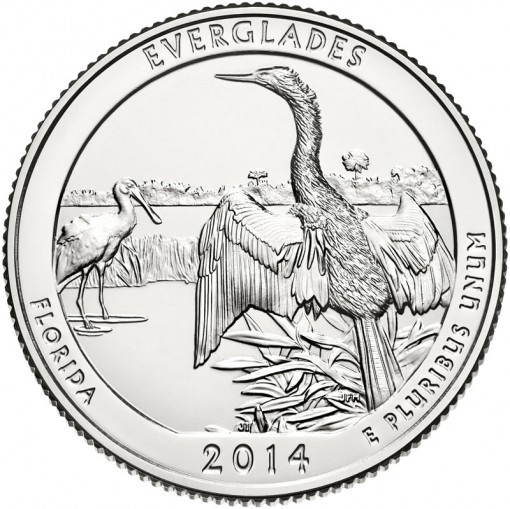 2014 Everglades National Park Quarter - Uncirculated