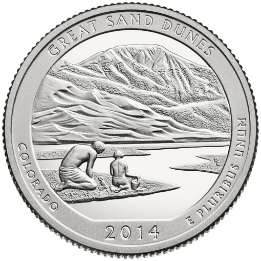 2014 Great Sand Dunes National Park Quarter - Proof