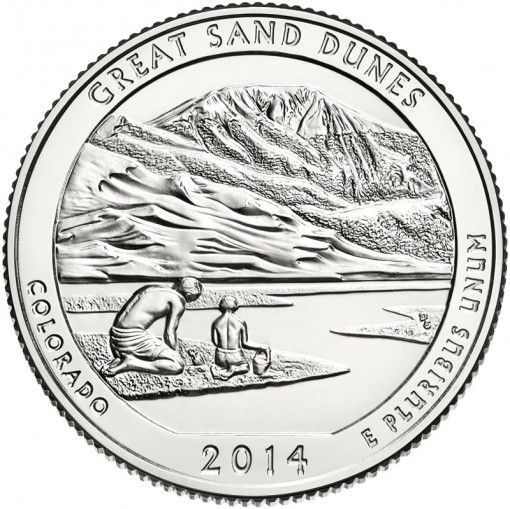 2014 Great Sand Dunes National Park Quarter - Uncirculated