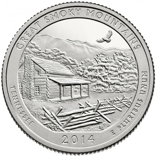 2014 Great Smoky Mountains National Park Quarter - Proof