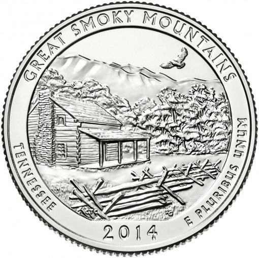2014 Great Smoky Mountains National Park Quarter - Uncirculated