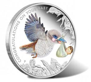 2014 Newborn Baby 1-2 oz Silver Proof Coin