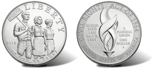 2014-P Uncirculated Civil Rights Act of 1964 Silver Dollar