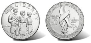 2014 Proof Civil Rights Act of 1964 Silver Dollar
