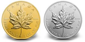 2014 Reverse Proof Maple Leaf Coins in Gold and Silver