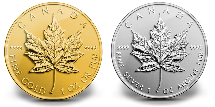 2017 Reverse Proof Canadian Maple Leaf Gold And Silver Coins