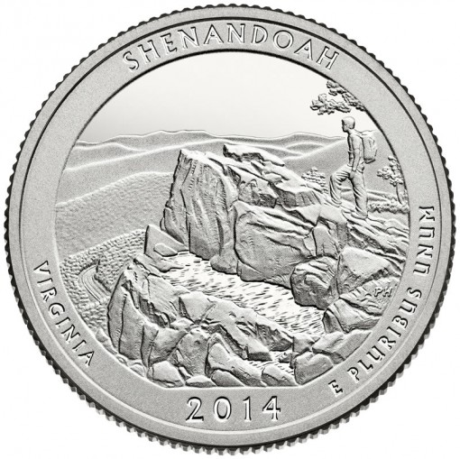2014 Shenandoah National Park Quarter - Proof