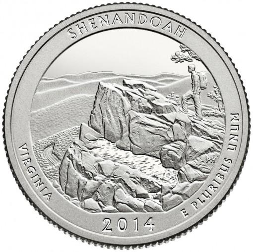 2014 Shenandoah National Park Quarter - Proof