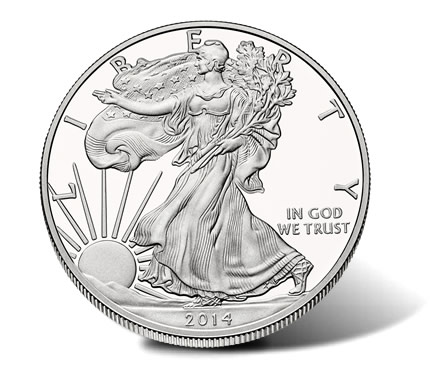 2014-W Proof American Silver Eagle - Obverse
