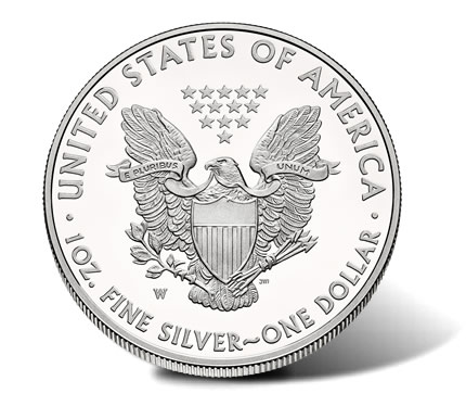 2014-W Proof American Silver Eagle - Reverse