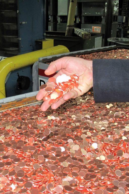 Lincoln Cent Planchets, Denver Mint