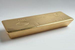 One gold bullion bar