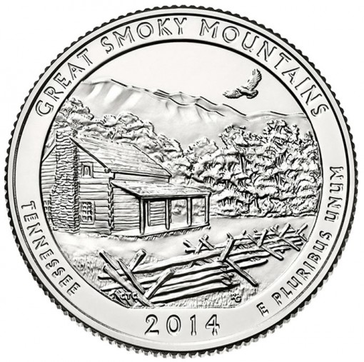 Reverse of Great Smoky Mountains Quarter