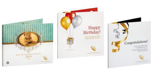 US Mint 2014 Birth, Happy Birthday and Congratulations Sets