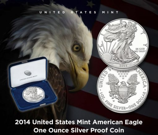 US Mint Promotion Image for its New 2014-W Proof American Silver Eagle