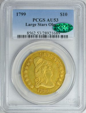 1799 Capped Bust Gold Eagle Large Stars