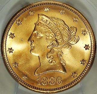1886-S $10 Gold Coin, Saddle Ridge Hoard