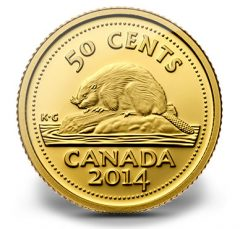 2014 50c Gold Beaver Coin Inspired by 1937 Canadian Nickel Design