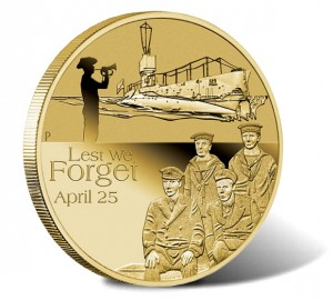 2014 ANZAC Royal Australian Navy Submarine Service Coin