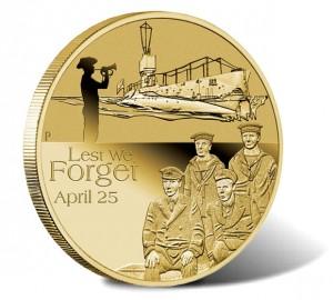 2014 ANZAC Royal Australian Navy Submarine Service Coin