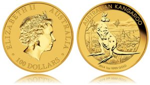 2014 Australian Kangaroo 1oz Gold Bullion Coin