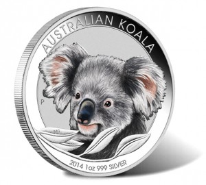 2014 Australian Koala Silver Colored Coin