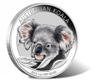 2014 Australian Koala Silver Colored Coin