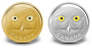 2014 Snowy Owl Gold and Silver Coins Start Canadian Series