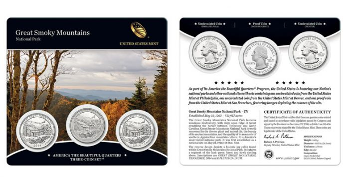 2014 Great Smoky Mountains Quarters Three-Coin Set
