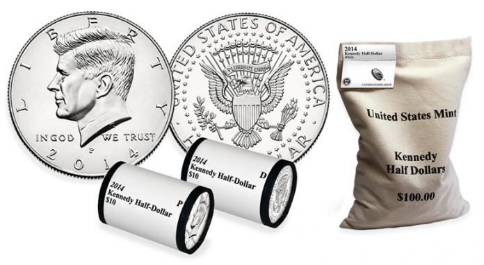 2014 Kennedy Half-Dollars Rolls and Bags