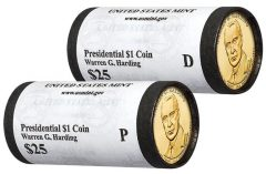 2014 P and D Warren G. Harding Presidential $1 Coins in Rolls
