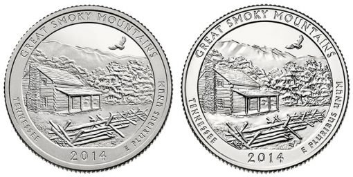 2014 Proof and Uncirculated Great Smoky Mountains Quarters