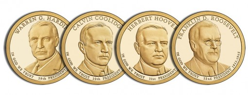 2014-S Proof Presidential $1 Coins