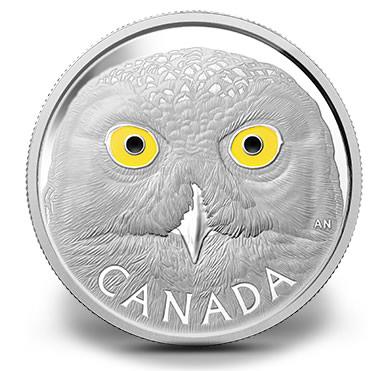 2014 Snowy Owl Silver Coin - Reverse