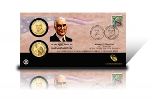 2014 Warren G. Harding $1 Coin Cover