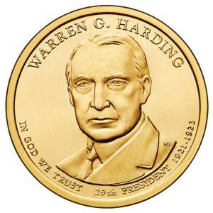 2014 Warren G. Harding Presidential $1 Coin