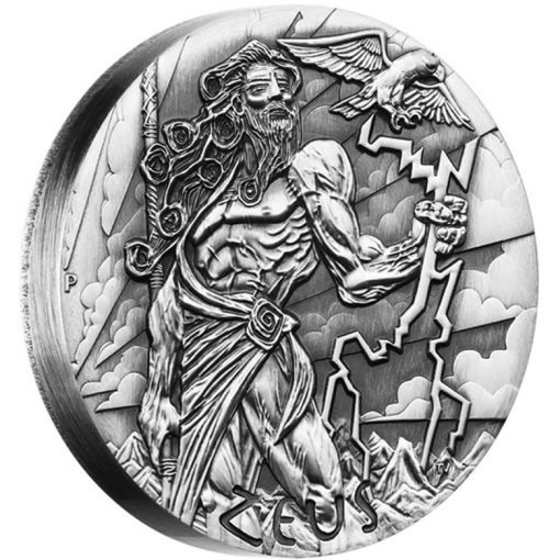 2014 Zeus High Relief 2 oz Silver Coin - Reverse