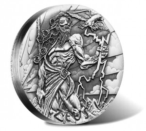 2014 Zeus High Relief Silver Coin from Gods of Olympus Series